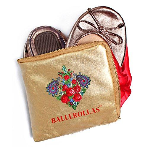 Ballerines Pliable – Chaussures de Football rollas Alternatif 100% Cuir Bronze Taille 36 - Marron - Bronze,