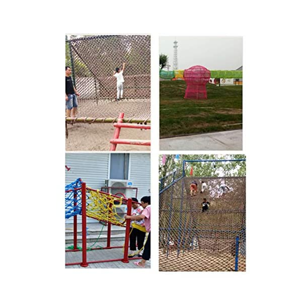 Children's Climbing Net, Color Rope Net, Fence Net, Pet Cat Stair Anti-fall Net, Garden Plant Protection Net, Wall Ceiling Amusement Park Decoration Net Size: 1×5M (Size : 3 * 7M)  ✪ Material: Polyester braided rope, hand-tightened, so that the mesh has greater tensile strength and strong impact resistance. Climbing Net. ✪ Three strands of rope: Woven with three strands of rope, precision wiring, workmanship, high temperature baking, dyeing, anti-corrosion, waterproof, sunscreen, anti-reinforced braided rope is not easy to break, durable. Climbing Net. ✪ Hand-woven: Lightweight child safety stair protection net, high-grade sturdy fabric, professional knotting, multi-strand weaving, make the rope more durable, has strong impact resistance, and protect children's safety. Climbing Net. 4