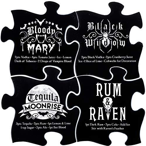 Alchemy of England Gothic Cocktail Untersetzer Set, Schwarz/Weiß
