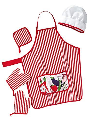 Vertbaudet Koch-Kostüm für Kinder rot ONE Size (Baby Nudel Kostüm)