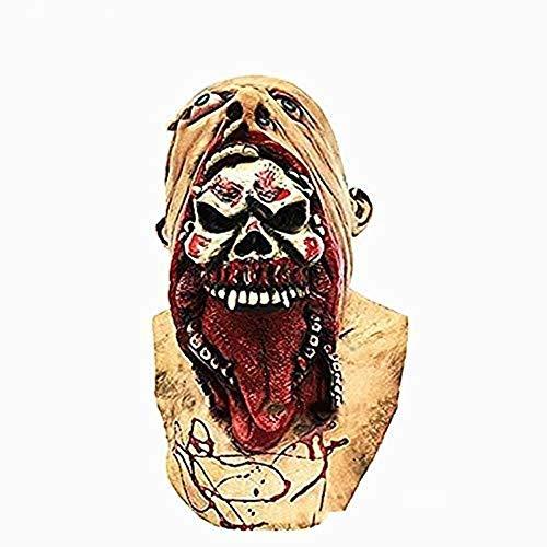 See Monster Kostüm - Halloween Schädel Maske Latex Schädel Narben Gummi Maske Zombie Blut Horror Monster Evil Maske Kostüm Party Maske