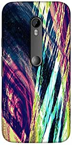 Snoogg Abstract Paint Designer Protective Back Case Cover For Motorola G 3Rd ...