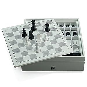 Juego Albus Corona - Set Elegante y de Calidad, ajedrez, póker, dominó - Blanco