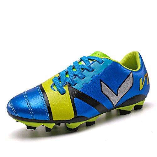 ASHION Teenager Fußballschuhe Kind Trainingsschuhe Blau