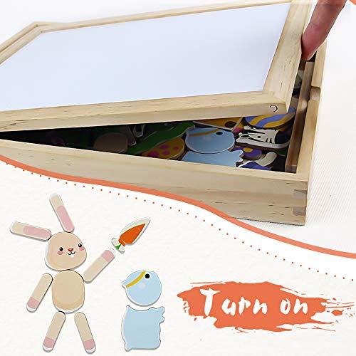 2b511ee76a Symiu Lavagna Magnetica per Bambini Puzzle Legno Giochi Montessori Giochi  Educativi 123 Pezzi Idee Regalo per Bambini 3 4 5