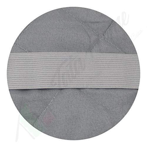 Tata Home Copridivano Trapuntato con Elastici Antiscivolo in Microfibra Resistente 3 Posti Grigio Scuro