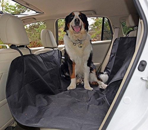 Hunde Autoschondecke, Kany Wasserdicht Hängematte Rücksitz Displayschutzfolie Pet Sitzbezüge für Car Verstellbare Träger (schwarz)
