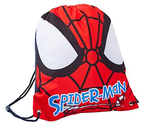 Marvel Spiderman - Bolsa de deporte con cordón para niños, color rosso, tamaño Talla única
