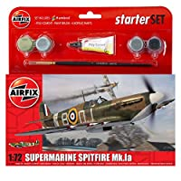 Airfix A55100 1:72 Supermarine Spitfire Mkia Military Aircraft Gift Set
