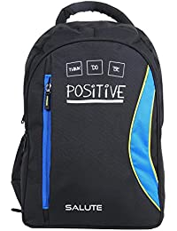 "SALUTE ""CAPACITY "" 38 Ltrs Black Blue Casual Backpack I School Bag"