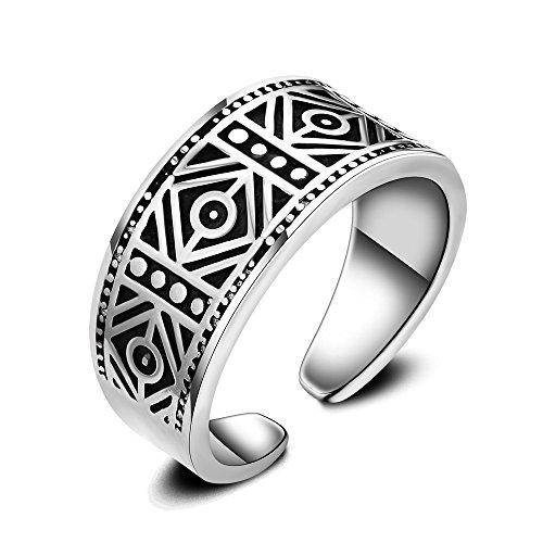 Skyllc Vintage ajustable de compromiso de apertura de anillos para las mujeres y los hombres
