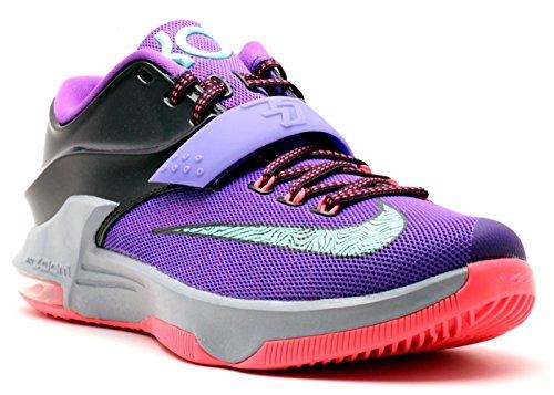 Nike Air Zoom Kevin Durant KD VII 7 Hallenschuhe Aktuelles Modell 2014 lila/türkis/grau/infrared, Schuhgröße:EUR 44 (Schuhe Herren 7 Nike Kd)