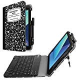 Fintie Samsung Galaxy Tab S3 9.7 Keyboard Case, Premium PU Leather Stand Cover with S Pen Protective Holder Detachable Wireless Bluetooth Keyboard for Tab S3 9.7(SM-T820/T825/T827), Composition Book
