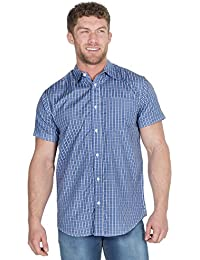 Pierre Roche Mens Short Sleeve Check Shirt