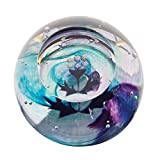 Caithness Glass 1-Piece Crystal Mini Thistle Scottish Paperweight, Multi-Coloured
