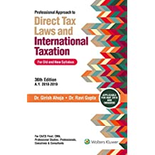 Professional Approach to Direct Tax Laws and International Taxation, 2 Volumes: For Old and New Syllabus
