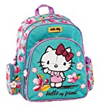 Graffiti Hello Kitty Mochila Escolar, 30 cm, Verde (Mint)