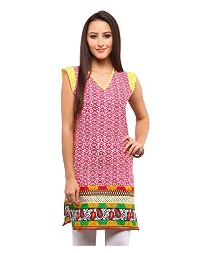 Yepme Delfina Kurti - Red & Yellow -- YPMKURT1484_M  available at amazon for Rs.199