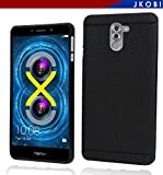 #6: Jkobi 360* Protection Premium Dotted Designed Soft Rubberised Back Case Cover For Huawei Honor 6X -Black