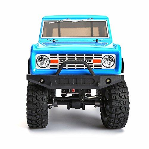 @MZL Crawler RC 1:10 LKW 4x4 RC Crawler 4wd Off Road Rock RC Auto mit Beleuchtung elektrische Wasserdichte Rock Cruiser Hobby Spielzeug für Kinder,Blue - Rock 1 Rc Crawler 10 4x4