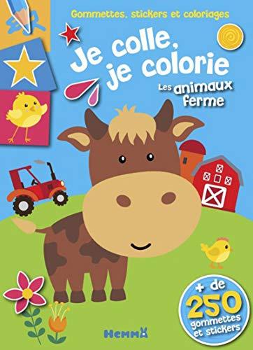 Gommettes, stickers et coloriages - Je colle, je colorie - Les animaux de la ferme
