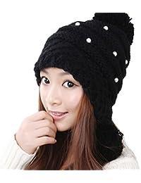 JIANCHIJY Gorro De Lana Coreano Gorro De Mujer Bola Linda De Las Mujeres  Sombrero De La Protección del Oído del Sombrero Hecho… bd04004437d