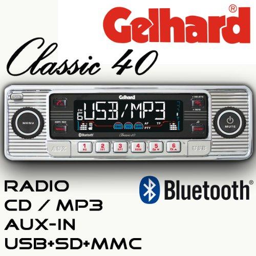 test gelhard classic 40 retro look rds autoradio cd mp3 usb sd bluetooth. Black Bedroom Furniture Sets. Home Design Ideas