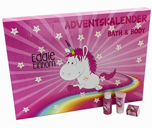 Eddie Einhorn Körperpflege Adventskalender - Pink Kosmitik Weihnachtskalender Unicorn