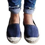 Tagether Damen Stroh Fischer Schuhe Flacher Boden Einzelne Schuhe Faule Schuhe Vintage Leder Flach Pumpe Casual Schuhe Mokassins Plateau Wildleder Schlupf Loafers Halbschuhe Sneaker
