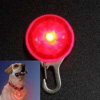 Agua y madera rojo perro Clip de seguridad de la luz de LED para cuello Peg gato noche