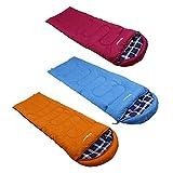 Unibest Schlafsack Deckenschlafsack mit Kopfteil NS70 Baumwolle Innen - blau Verschluss rechts