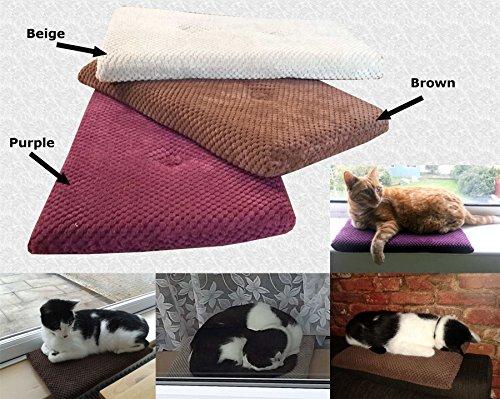 1 x Beige Cat Kitten Spot Pet Window Cushion Pillow Mat Resting Pad Seat Sleeping Bed Sofa Mattress Soft Warm Comfy