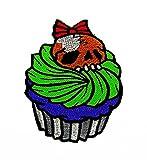 rabana Sugar Skull Monster Cupcake Sweet Dessert Candy Maker Cartoon Kids Kinder Cute Animal Patch für Heimwerker-Applikation Eisen auf Patch T Shirt Patch Sew Iron on gesticktes Badge Schild Kostüm