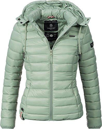 Marikoo Damen Übergangs-Jacke Steppjacke EIN Und Alles (vegan hergestellt) Fresh Green Gr. S