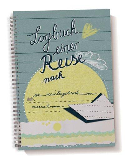 Reisetagebuch Logbuch einer Reise | A5 Tagebuch zum Selberschreiben mit Wetter, Stimmung und Zitatfeldern | Weiß Beige Blau | Vintage Design | ideal für Kreuzfahrten und lange Reisen