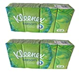 Kleenex Balsam Multipack Tissues 8 pocket packets of 9 sheets each (Pack of 2)