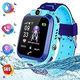 Bambini smartwatch,Smartwatch per ragazze e ragazzi, Display Touchscreen LCD da 1,44 Pollici con Fotocamera Digitale, Giochi, Sveglia per Ragazzi e Ragazze (Blu)