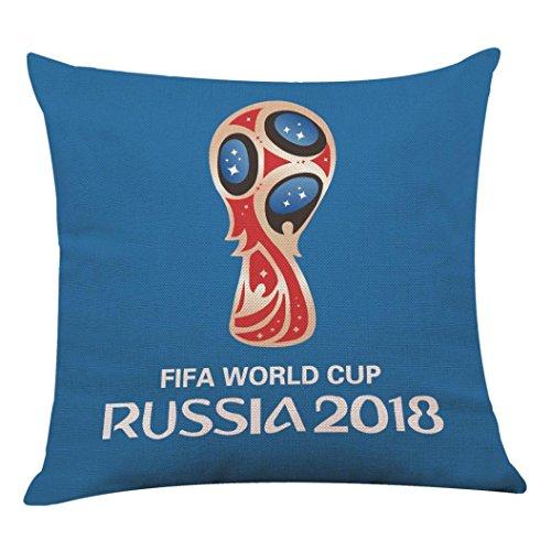 Custom-classics Sofa (tianranrt 45,7x 45,7cm die 2018Russland FIFA World Cup Home Decor Kissenbezug Fußball Kissenbezüge verstecktem Reißverschluss, Leinen, e, 18