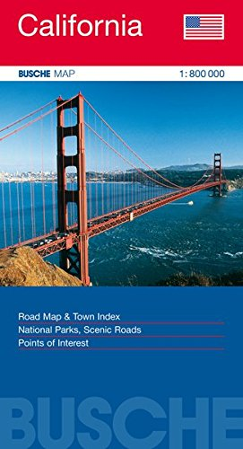 California 1 : 800 000 - Straßenkarte: Road Map & Town Index. National Parks, Scenic Roads. Points of Interest