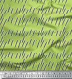 Soimoi Grun Baumwolle Ente Stoff Pinselstrichs abstrakt