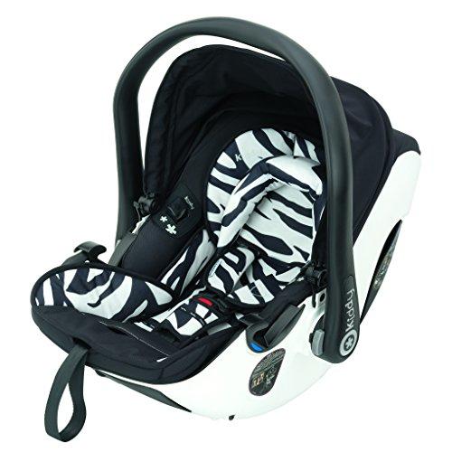 Preisvergleich Produktbild Kiddy 41920EV600 Evolution Pro 2 Babyschale, patentierte Liegefunktion, komfort Lattenrost, Isofix-fähig, Gruppe 0+ (0-13 kg, Geburt-ca. 15 Monate), Zebra (schwarz-weiß)
