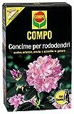 Compo Concime per Rododendri con Guano, Ottimo per Azalee, ortensie, eriche, Fuchsie e Tutte Le Altre Piante acidofile, 3 kg, 9.4x18.3x32 cm