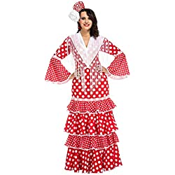 My Other Me Me-203847 Disfraz de flamenca Sevilla para mujer, color rojo, S (Viving Costumes 203847)