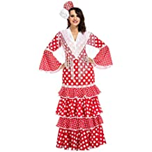 My Other Me Me-203849 Disfraz de flamenca Sevilla para mujer Color rojo XL Viving