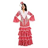 My Other Me Me-203848 Disfraz de Flamenca Sevilla para Mujer, Color Rojo, M-L (Viving Costumes 203848)