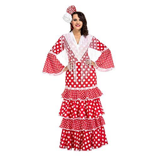 Sevilla Kostüm Flamenco - My Other Me - Damen-Kostüm, Flamenco, Sevilla, rot (Viving Costumes) Small rot