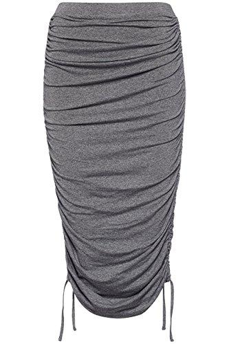 FIND Damen Bleistift-Rock mit Schnürdetails, Grau, Small