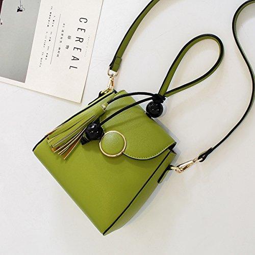 kleine seitenpaket Su bao mode casual Schulter messenger bag tragbare frau Hellgrün