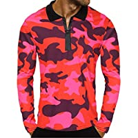 Herren Oberteile,TWBB Autumn Winter Zipper Camouflage Sweatshirt Casual Tops Lange Ärmel Männer O-Neck Hemd,S-2XL