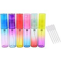 Vococal - Set de 12 Piezas 5ml Vacío Recargables Cristal Botella del Aerosol del Viaje / Rociador del perfume / Botella de la Bomba / Atomizador + 5 piezas cuentagotas